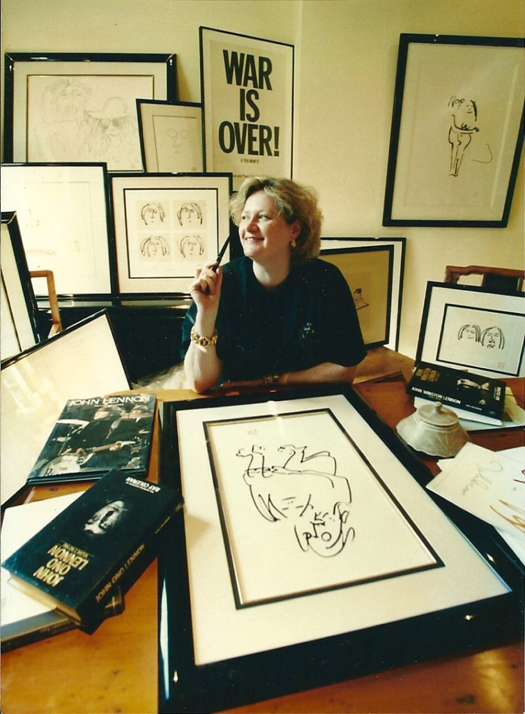 Maureen McCarthy with John Lennon art