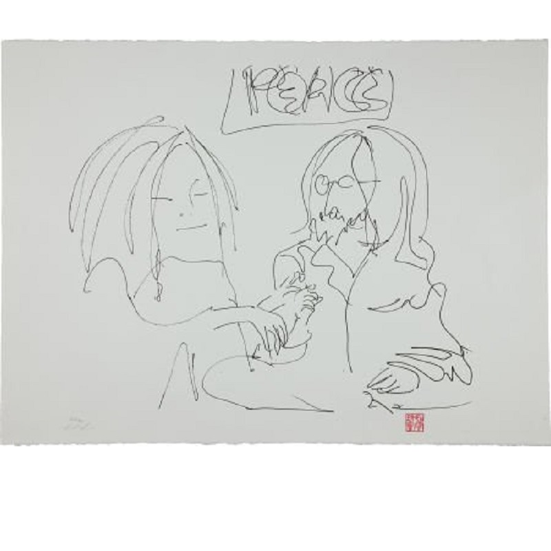 ]peace and love for sale on art of john lennon
